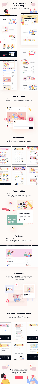 Join Up – BuddyPress Community Theme, Gobase64